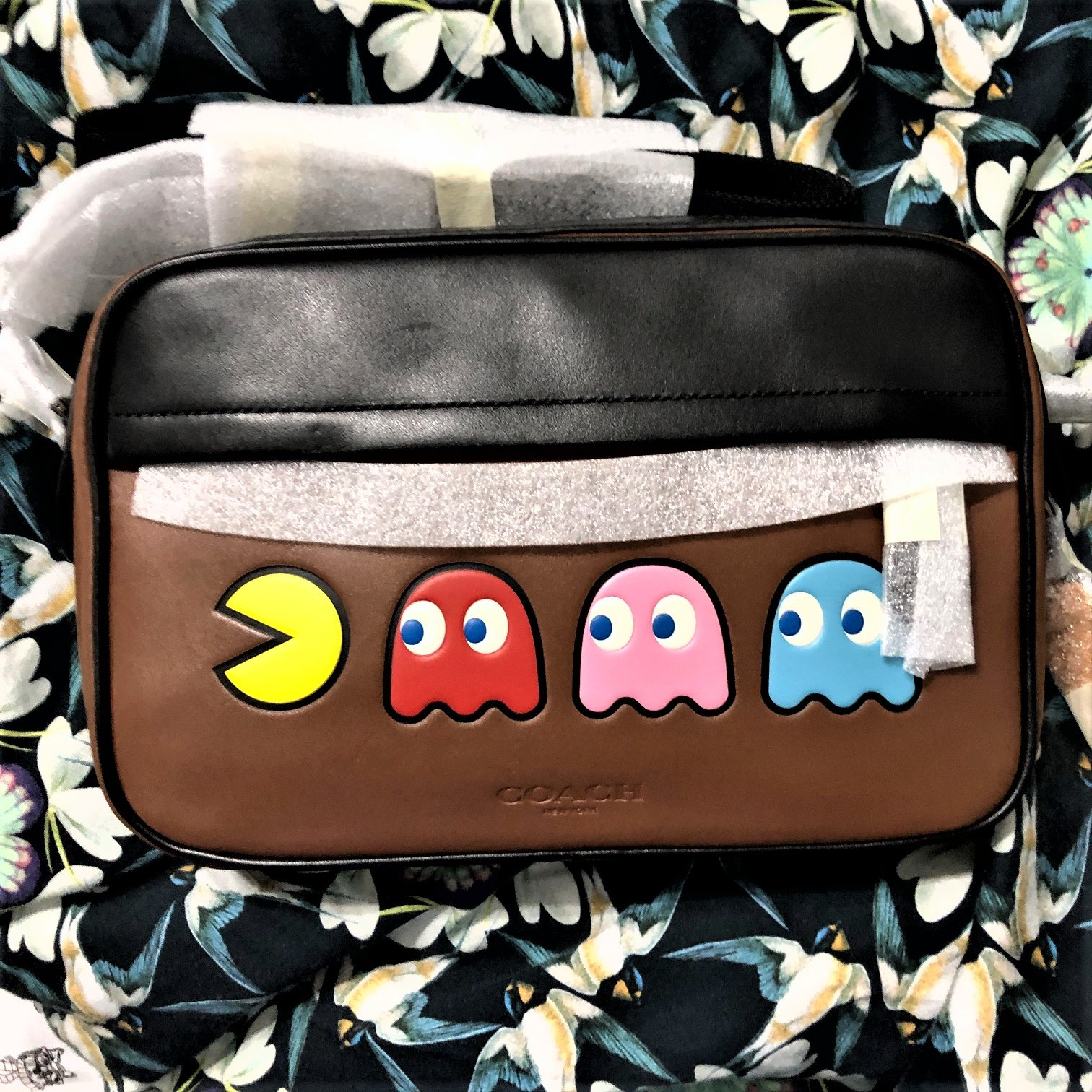 Primary image for Coach Graham Pac-Man Motif Saddle Leather Crossbody Bag F72921
