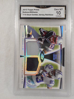 2013 Topps 7/10 Dobson/Williams Dual Combo Relic rainbow GMA Graded Gem 10