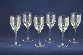 """Set of 6 Lenox Allegro Crystal Wine Glasses Goblet Stemware 7 5/8"""" - $96.27"""