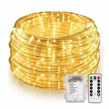 46ft LED Rope String Lights Outdoor, Battery Powered String Lights Remot... - $19.62