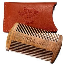 BFWood Pocket Beard Comb - Sandalwood Comb with Leather Case image 5
