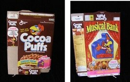 Cocoa Puffs Musical Bank Vintage Cereal Box Flat Empty Box - $16.99