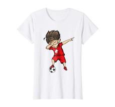 Dad Shirts - Dabbing Soccer Boy Switzerland Jersey Shirt - Swiss Footbal... - $19.95+