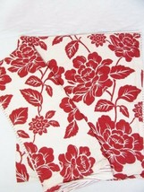 Tommy Hilfiger Smithfield Floral Red White Reversible King Shams (Set of 2) - $41.00