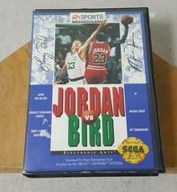 Jordan Vs. Bird Sega Genesis Authentic Cartridge Cart Appears Unused - $14.84