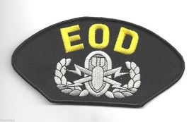 "EOD EXPLOSIVE BOMB SQUAD  6"" EMBROIDERED MILITARY PATCH - $15.33"