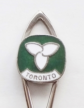 Collector Souvenir Spoon Canada Ontario Toronto Trillium Cloisonne Emblem - $4.99