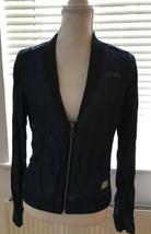 GStar Raw Denim Long Sleeve Bomber Jacket Casual Blazer Size Small - $21.00