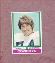 1974 Topps # 250 Bob Lilly Dallas Cowboys Nice Card - $3.99