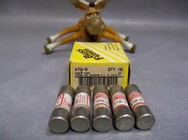 KTQ-5 Bussmann Fast Ferrule Fuse 5 amp Lot of 5 - $50.18