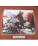 1996 MIP Candamar Thomas Kinkade Cross Stitch Country Memories Autumn 50962 - $29.21