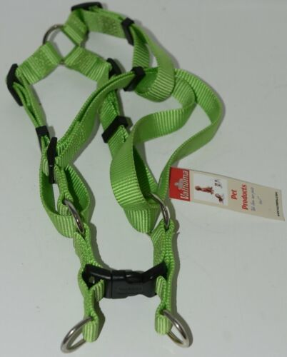 Valhoma 735 LG 3/4 inch Quick Fit Adjustable Dog Harness Lime Green Medium Nylon