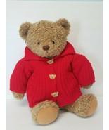 "Hallmark Mary Hamilton Brown Teddy Bear Plush 18""  Red Sweater with Orig... - $21.29"