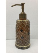 New Lotion / Soap dispenser Anna's linens Mosaic brown shades lotion dis... - $25.73