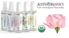 Organic Flower Waters 100% Natural Steam Spray Flower Waters Certified Organic - $10.94