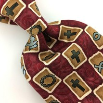 EAGLES WINGS TIE Dove Cross Christianity Faith/Fish Silk Necktie N4-199 New - $24.74