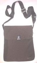fossil merceir fin ville marron cuir toile petit sac à bandoulière - $78.56