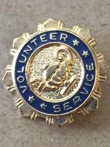 Vintage 60s Nursing/Hospital Volunteer Service Gold/Navy Lapel Pin image 5
