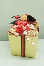 """Miniature Schmid Music Box - 2"""" Present - Away In A Manger - $21.78"""