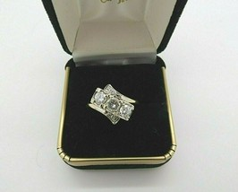 14k Diamond Ring 1 TCW Mid Century Yellow Gold H-I Appraisal $3237 Deco ... - $1,187.01