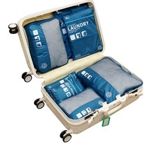 7 Set Packing Cubes Luggage Travel Organizer with Laundry Bag and Shoes Bag - £17.45 GBP
