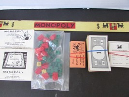 VTG 1946 PARKER BROTHERS MONOPOLY BOARD GAME PARTS MONEY PROPERTY HOUSES - $6.16