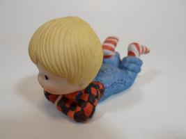Country Cousins Figurines Enesco Vintage Porcelain Flannel Shirt Boy - $9.95