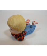 Country Cousins Figurines Enesco Vintage Porcelain Flannel Shirt Boy - $9.95