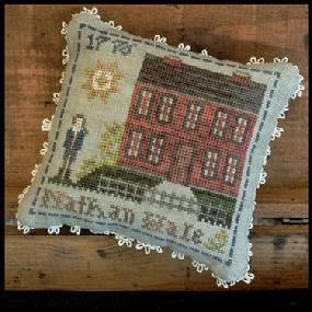 Nathan Hale #4 Early Americans series cross stitch chart Little House