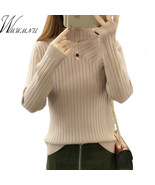 High Stretch Knit Winter Sweater Female Long Sleeve Pullover And Sweater... - $17.60