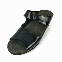 MEPHISTO Air Relax Mobils Black Patent Leather Wedge Slide Sandals Size ... - £23.80 GBP