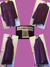 NEW! Croft & Barrow Women's Plus Size 2X 3/4 Sleeves Purple Button Front... - $12.86