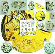 WALTHAM Vintage Used Winding Watch movement For parts ,Replacement Varie... - $6.79+