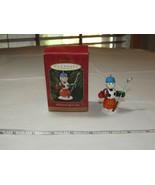 Hallmark Recuerdo Ornamento Completo SPORTS Ventilador Snowman 1997 Navidad - $35.59