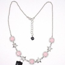 Necklace Silver 925, Stars and Squares, Pink Quartz, Zircon by Maria Ielpo image 2
