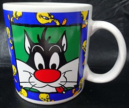 Warner Bros Coffee Mug Looney Tunes Sylvester the Cat 14 oz Tweety Bird - $18.00