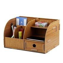 Oak-Pine Multifunctional Wooden Grain Design Home Desk Storage Box Offic... - $47.40