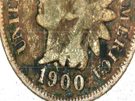 Indian Head Penny 1900, 1901, 1902, and 1903 AA20-CNP2143 Antique image 3