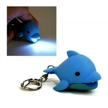 LED DOLPHIN KEYCHAIN with Light and Sound Cute Toy Animal Noise Key Chai... - $6.95