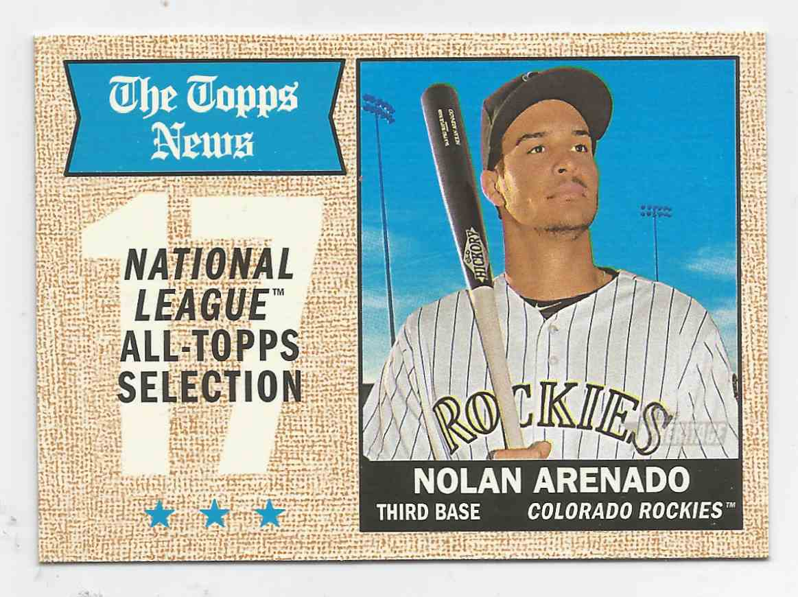 2017 Topps Heritage  #373 Nolan Arenado - Gray Back - Colorado Rockies -  Mint