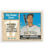 2017 Topps Heritage  #373 Nolan Arenado - Gray Back - Colorado Rockies -... - $5.00