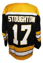 Blaine Stoughton #17 Cincinnati Stingers Retro Hockey Jersey New Black Any Size image 5