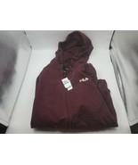 Fila Men's Full Zip Hoodie Fleece Maroon XL - $39.59
