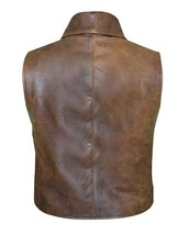 Anson Mount Cullen Bohannon Hell On Wheels Distressed Brown Leather Vest image 3
