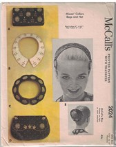 2024 McCalls Sewing Pattern Misses Hat Bag Collar Beaded 1950s Embroider... - $29.68