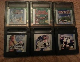 Lot of 6 Game Boy Color Games: Madden 2000, NHL 2000, Test Drive 6, More - $19.27