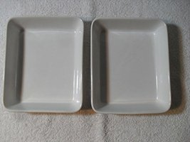 "2 Stoneware ""Oven Proof"" 6"" by 7"" Square Baking Dish Made in Japan - $20.38"
