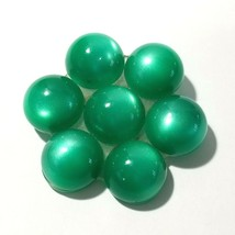 LUCITE GREEN MOONGLOW FLOWER PIN VINTAGE MID CENTURY - $18.00