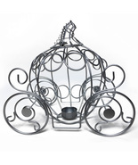 Fairytale Dreams Centerpiece - Silver Metal Pumpkin Coach - $15.00