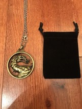 Mortal Kombat Pendant & Pouch New Cosplay Rare Necklace Hot Scorpion Kitana - $8.90